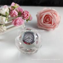 Wholesale boule de cristal horloge de table