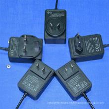 Adaptador 24V1a 12V2a Fuente de alimentación conmutada para enrutador, POS, decodificador, tiras de LED