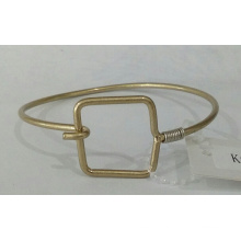 Simple Metal Bracelet with Square Pendant
