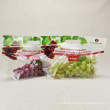Custom Reusable Plastic Zip Lock Carry Fresh Fruit And Vegetables Packaging Bag For Grape