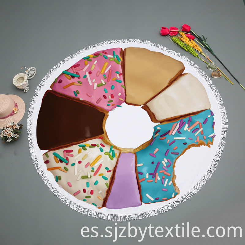 High Quality Round Donut Beach Towel