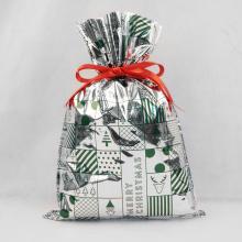 Sacos de plástico de Natal, malotes de presente de embalagem