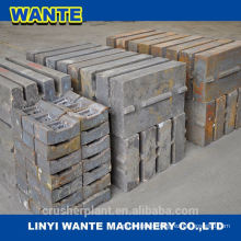 crusher jaw plates jaw plates for PE jaw crusher High manganese steel crusher wear parts