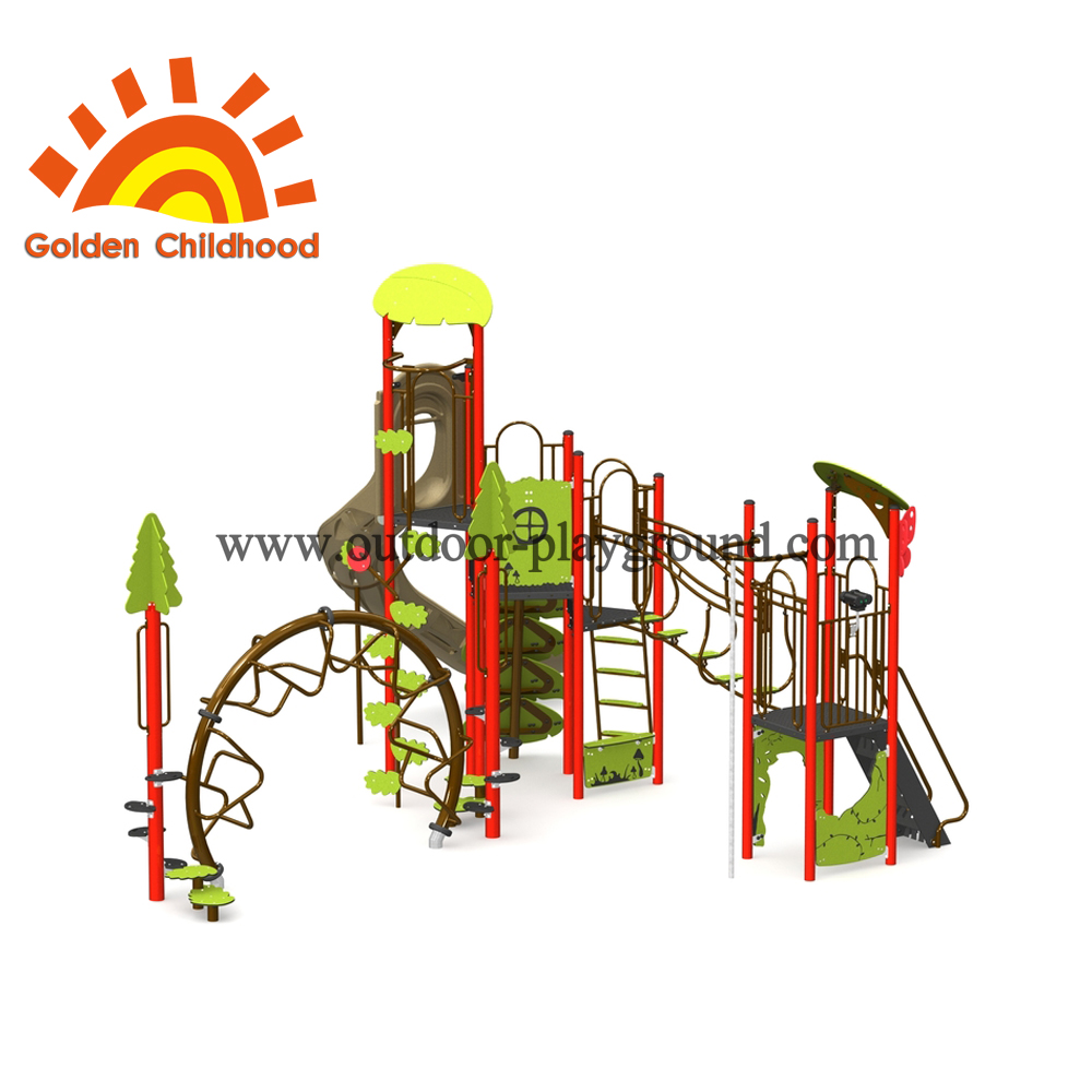 Natural Tree Outdoor Playground Equipment