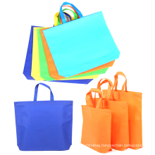 Wholesale custom different colors bulk printed recyclable tote bag nonwoven shopping bag
