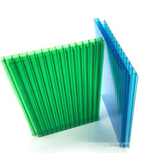 Clear 16mm 4x8 Polycarbonate panel pc material plastic four layers hollow  poly carbonate sheet factory cheap price