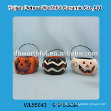 Держатель для свечи ручной работы из керамики, подвесной подсвечник для Хэллоуина