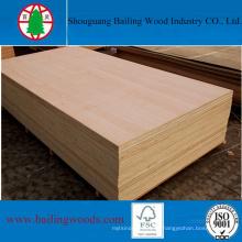 Venta caliente de madera contrachapada comercial para decoración o muebles
