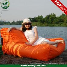 Gran sofá al aire libre playa de agua de colores flotar sillas de bolsa de frijol