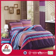 Super King 100% polyester microfiber bedding set,reasonable price with high quality bedding set