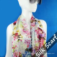 Bufanda larga de seda Hangzhou para mujer