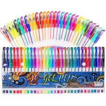 Adult Coloring Books Colored Pen with 40% More Ink for Drawing, Doodling Crafts Scrapbooks Bullet Journaling 30 Colors Gel Marker Gel Pens