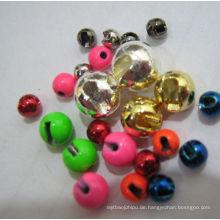 Dia1.5-Dia5.5mm verschiedene Farbe Tungsten geschlitzte Perlen zum Fliegenbinden