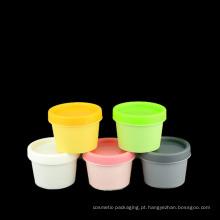 50ml 100ml 200ml de tampas plásticas do frasco de pedreiro de Colorized (NJ15)