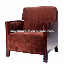 Modern solid wood fabric cover hotel dining chair XY0913