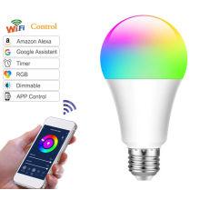 L'ampoule LED Smart WIFI RGBW a mené des lumières intelligentes