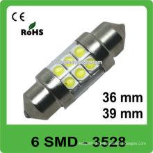 12V 36mm 6 SMD Girlande führte Selbstlampe