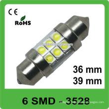 12V 36mm 6 SMD festoon led auto lamp
