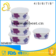 5шт меламиновая льда чаша с крышкой комплект