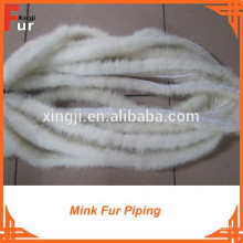 High Quality Natural White Mink Fur Trim