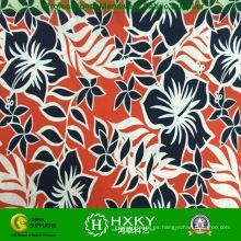 Tela de la microfibra del poliéster con la impresión de la flor para la materia textil casera