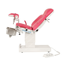 Electric Gynecology Table Wooden Case Ce Operating Table Free Spare Parts Electricity CE  Class I Mt-medical Red/pink DST-IV