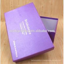 Boîte à chaussures en gros de carton personnalisé de haute qualité
