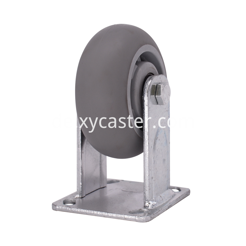 5 Inch Tpr Fixed Caster Wheel