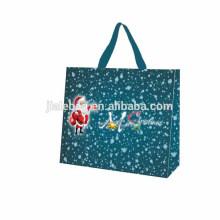 Eco Содружественные PP прокатали хозяйственную сумку производство новогоднюю тему