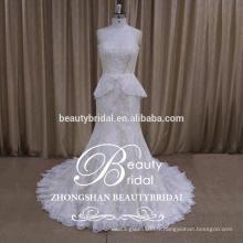 New Mermaid bretelles sans bretelles sexy en dentelle Tulle jupe robe de mariée de la mariée 2017