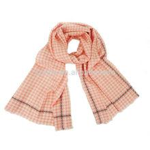 Fashion faux cashmere winter women acrylic houndstooth pashmina lady scarf