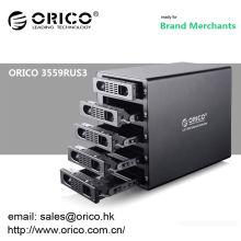 "ORICO 3559RUS3 5 bay 3.5"" HDD RAID Enclosure HARD DRIVE RAID ENCLOSURE USB 3.0 e-SATA"
