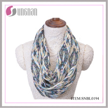 2016 Casual Women Quilting Pattern Polyester Infinity Scarf