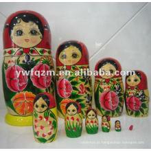 artesanato de madeira de alta qualidade rússia boneca de nidificação