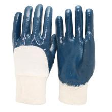 NMSAFETY Free Sample blue nitrile gloves for oil industrial work glove EN388 3111
