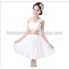 sexy one-shoulder club dress waistband evening dress short
