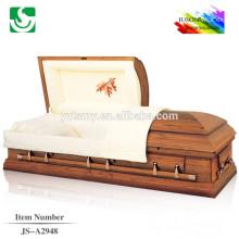 Style américain solide en bois gros moderne chêne cercueils