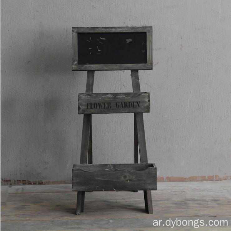 Wooden blackboard desk stand sturdy wood chalkboard