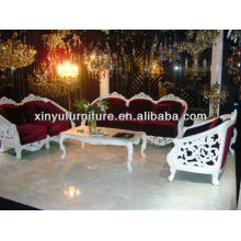 Classical Carved white soild wood sofa sets A10100