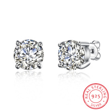 925 Sterling Silver 8m Drill Earrings Fashion Design Jewelry for Women