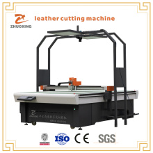 Leather Cutter With Rotary Blade Cuts Leather Fabric