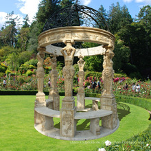 Outdoor Gartendekoration Naturstein Marmor Pavillon direkt