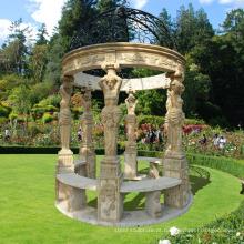 decoração do jardim ao ar livre pedra natural gazebo de mármore direto
