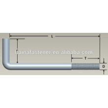 Anchor Bolt, L Hook, 3/4-10x4 In