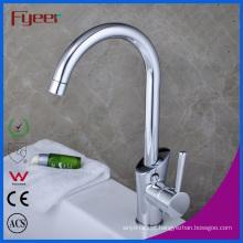 Fyeer China Single Handle Goose Neck Kitchen Sink Faucet (QH1771K)