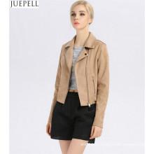 Herbst neue Modelle in Europa und Amerika Marke Wildleder Lederjacken Frauen kurze Absatz dünne Lederjacke Mode