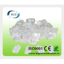 UTP RJ45 штекерный разъем 8p8c разъем FU металлизированный разъем