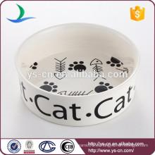 Tazón de cerámica al por mayor del gato del precio bajo