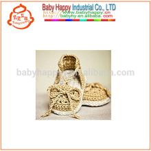 Hot Sell Baby Purple Shoes à la main crochet fantaisie chaussures pour bébés