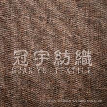 Double couleur imitent le tissu de canapé Oxford en lin